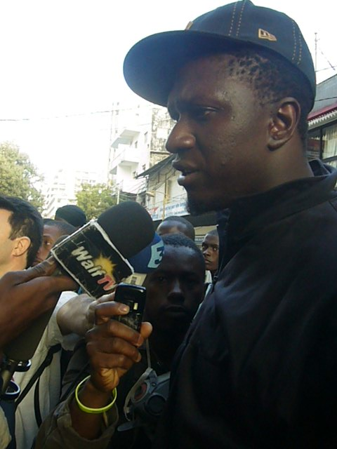 Fed Up youth movement taking interviews  after  protest in 2012
