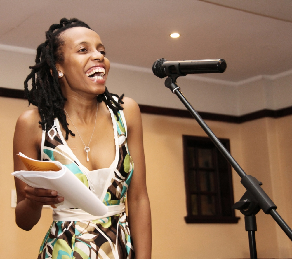 """Akhona Metu Reading extracts from her poetry book titled """" A gift of a thousand words"""""""