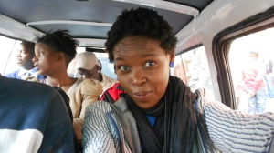 Lindiwe Jedi Ramalapa - Having fun inside a mini-bus Taxi. 2013. All rights reserved.