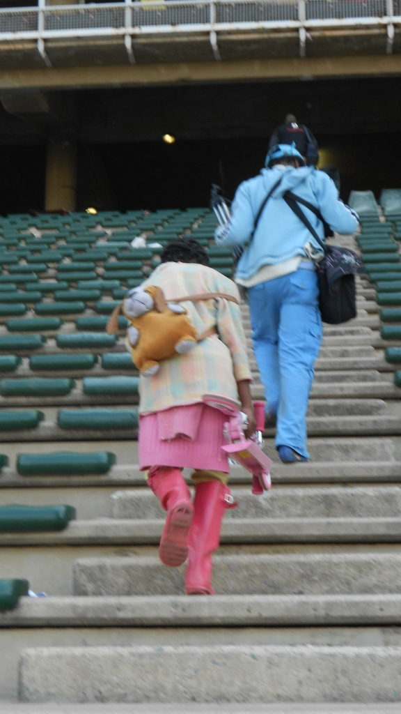 Mother and Child leaving a rally to raise awareness against women and child abuse in Johannesburg South Africa. Picture - Jedi Ramalapa