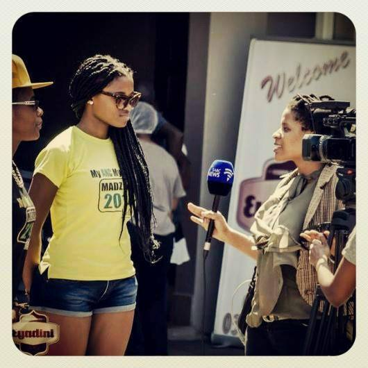 "One of the Embassadors of the"" My ANC My Swag"" Campaign  being Interview i n Umlazi  at the Weekend."