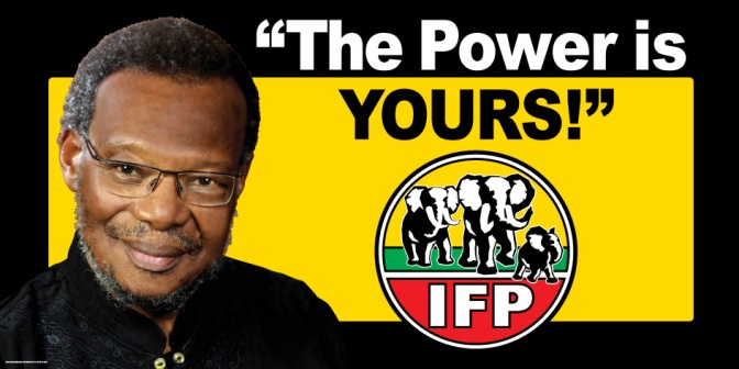 IFP President Mangosuthu Buthelezi.