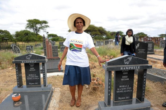 AGANG leader Mamphele    Ramphele announcing her entry into formal politics to her ancestors. 2013