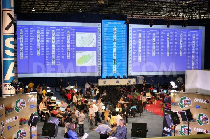 IEC National Results Centre Pretoria. Pic Demotix.com