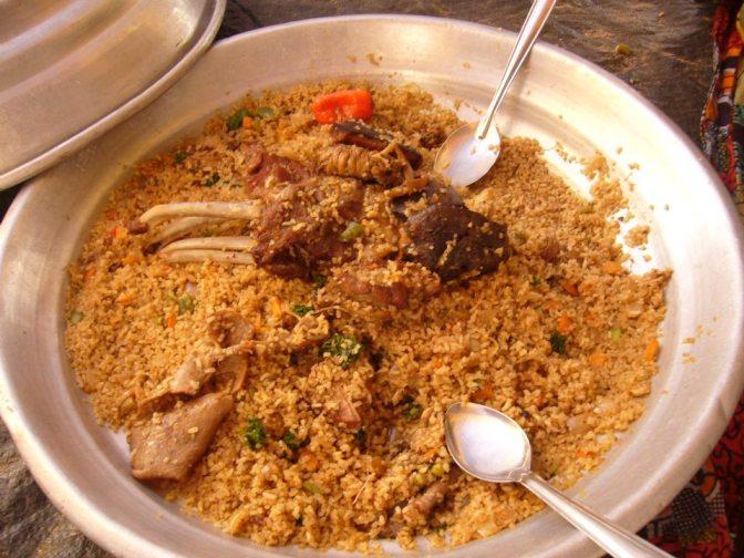 Communal Eating In Senegal